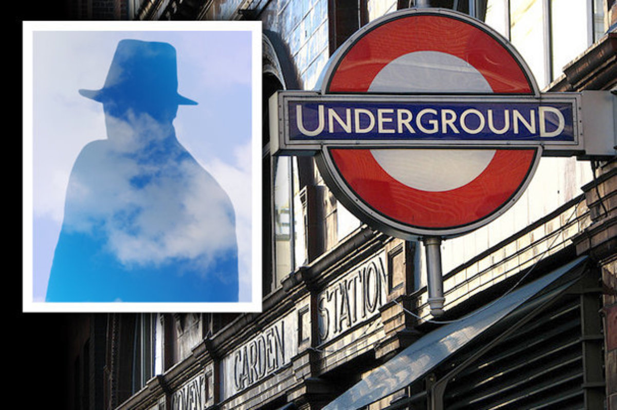 Covent Garden Tube station with the ghost of William Terriss