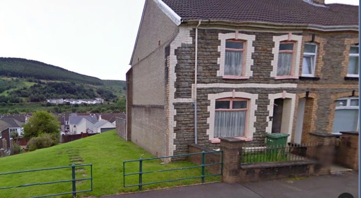 Moy Road, Aberfan. Houses Destroyed in the Aberfan Disaster 1966