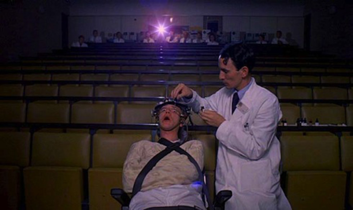 A Clockwork Orange demonstrates mind control