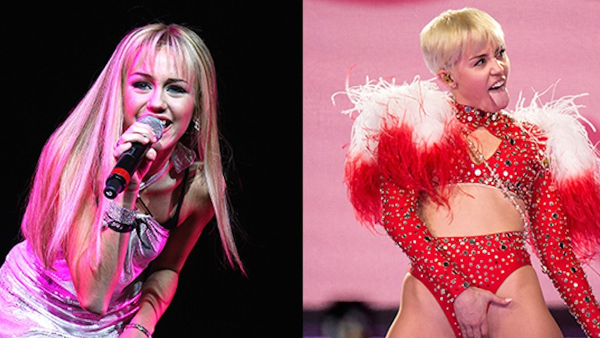 The transformation of Miley Cyrus