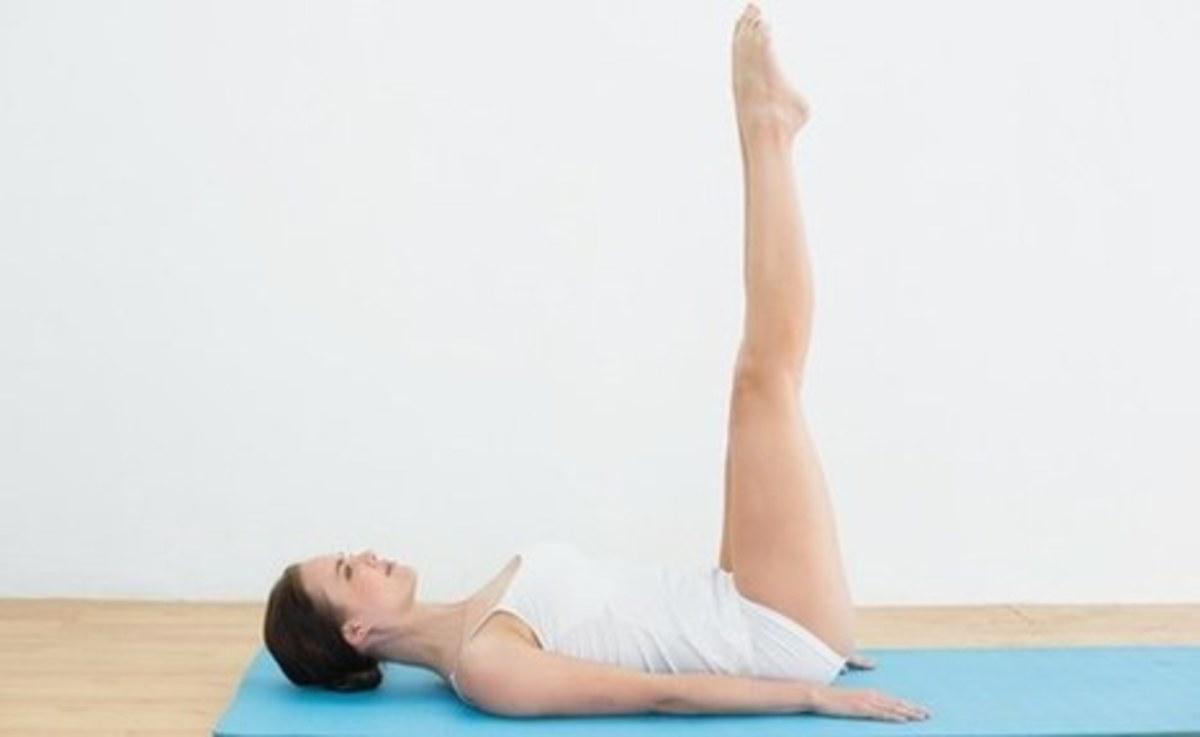 Upward extended feet pose