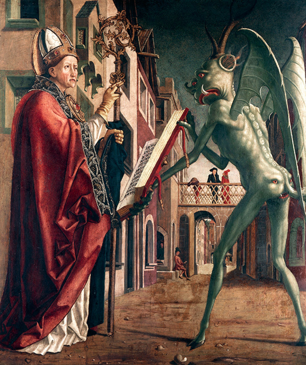 Saint Wolfgang and the Devil -- Michael Pacher