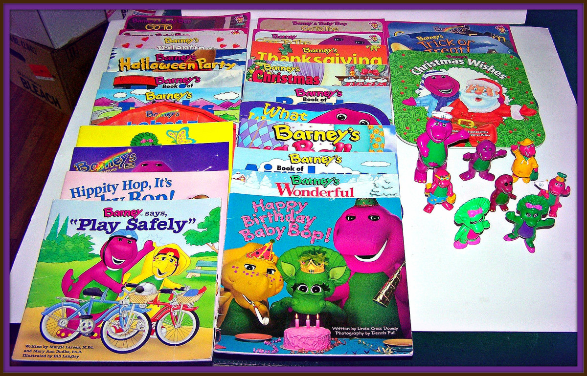 Barney and Friends was a huge success and his books and figurines were very populate with both parents and children. He could be found in all the bookstores and shopping centers of the 1990s era.