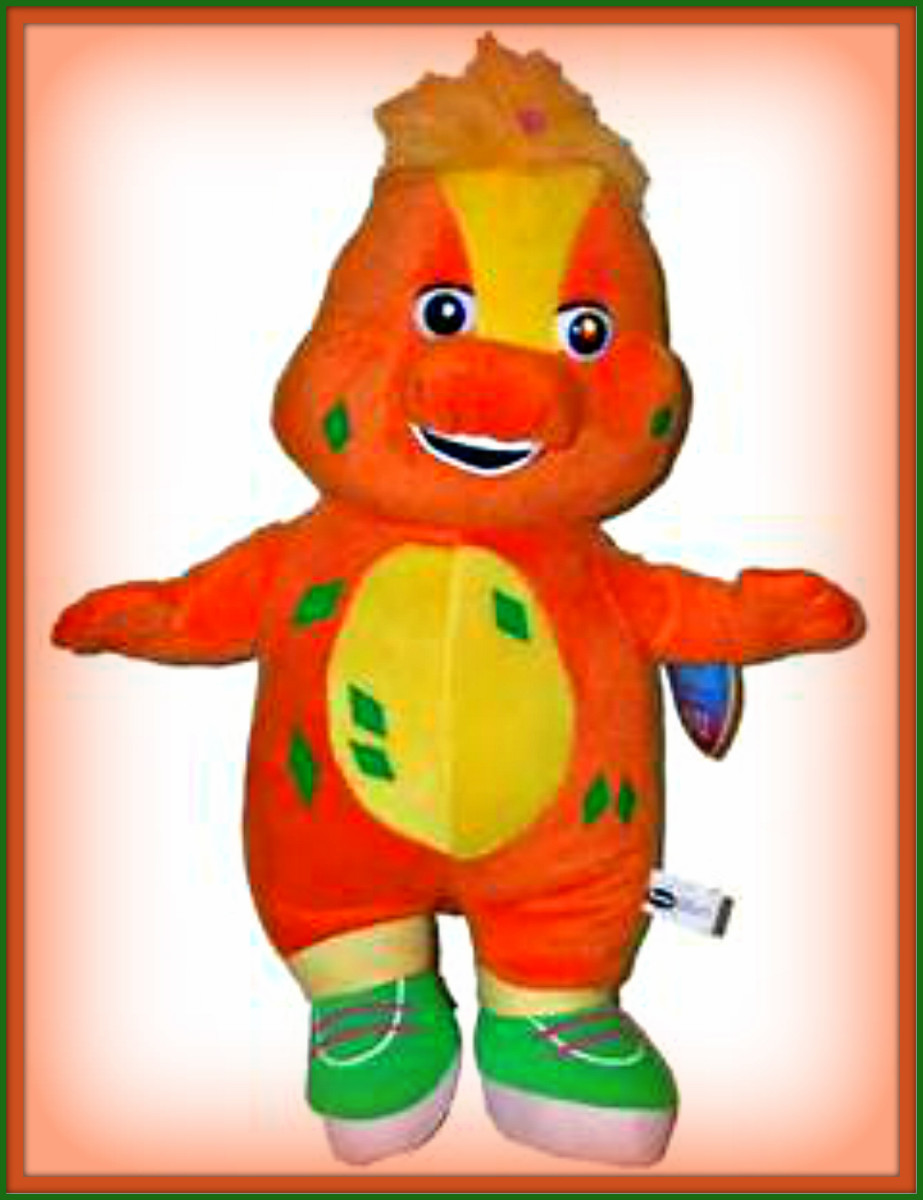 Riff  is the cousin to B. J. and Baby Bop. He premiered on the Barney show on September 6, 2006. Riff is known for his green colored sneakers, and he loves music very much. Riff even hears music everywhere he goes. Riff also is a great inventor ...