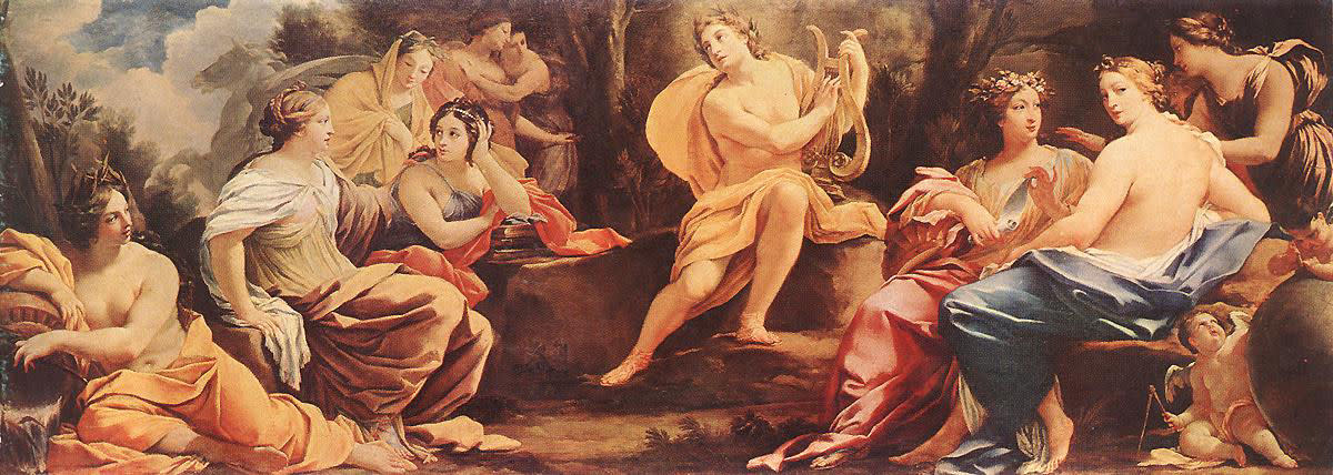 Apollo surrounded by all his nine Muses - Simon Vouet
