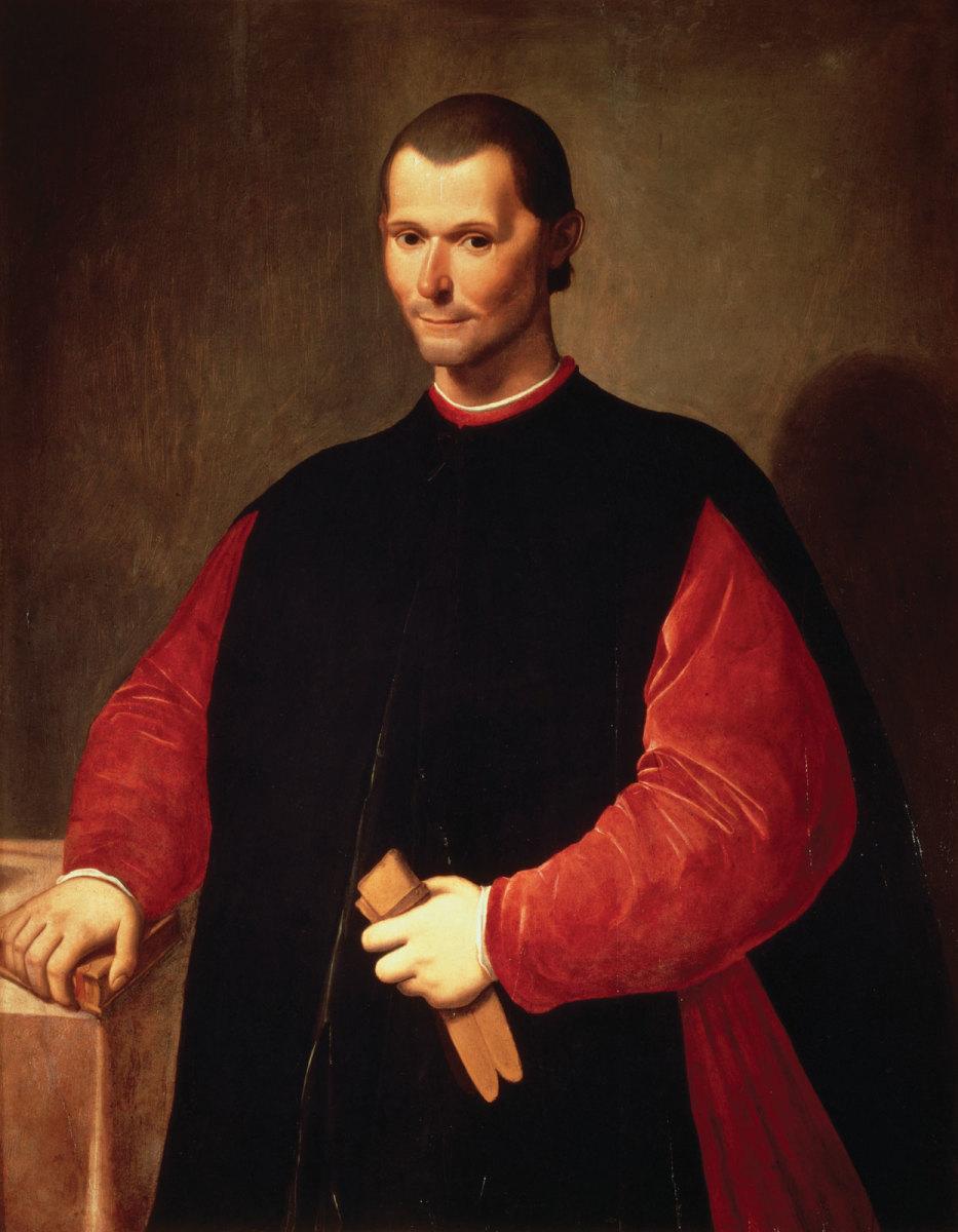 Niccolo  Machiavelli by Santi di Tito.