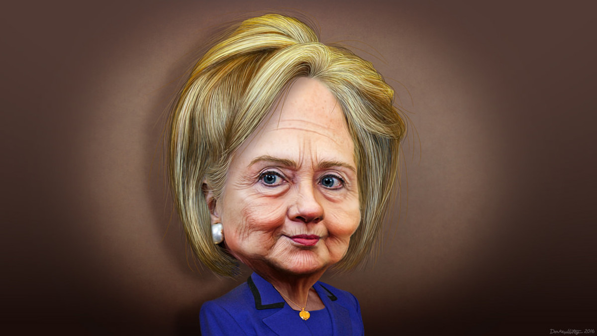 The size of Hillary's head in real life.