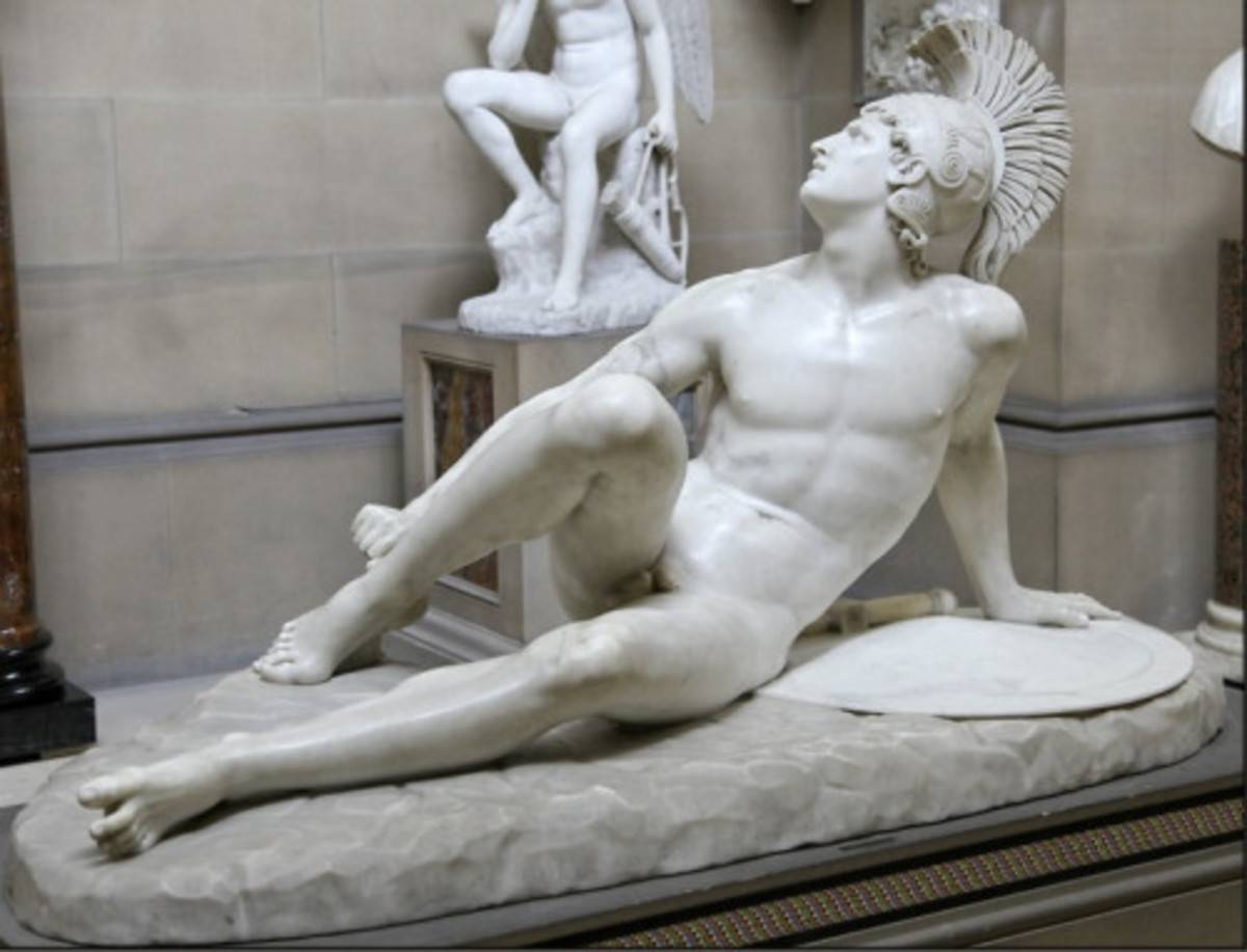 The Wounded Achilles - Filippo Albacini (1825). Chatsworth House, Derbyshire - Great Britain. Achilles is an example of who the Ancient Greeks perceived as a 'hero'