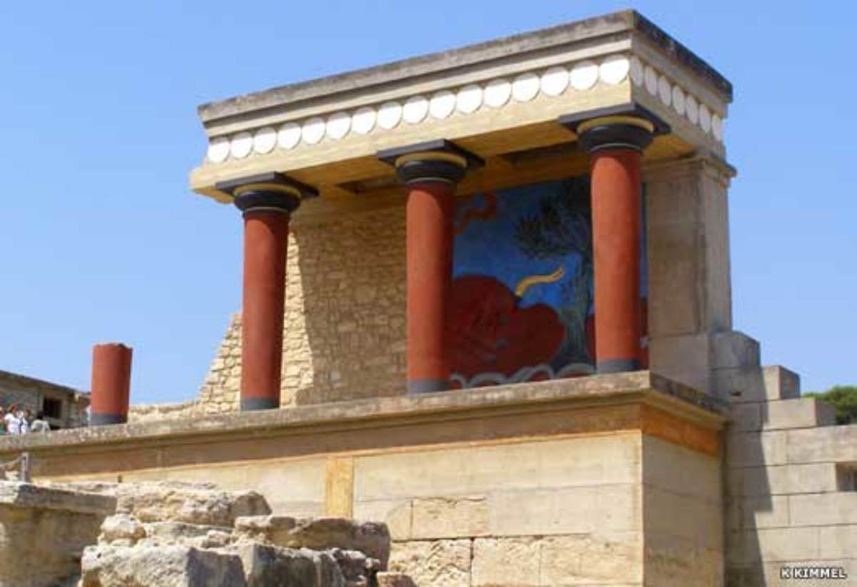 A partial refurbishment of the surviving palace elements by Arthur Evans, the great discoverer of Minoan civilisation between 1900-1905