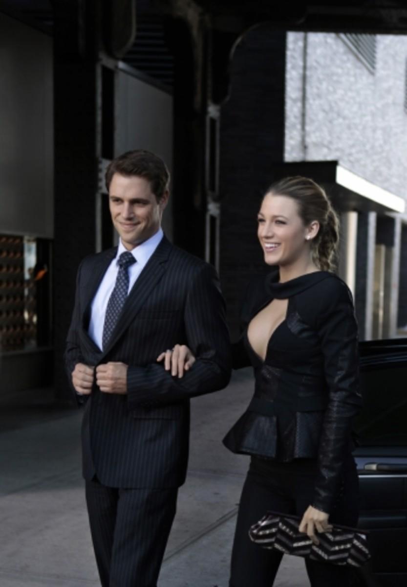Serena van der Woodsen and professor Colin Forrestor on Gossip Girl