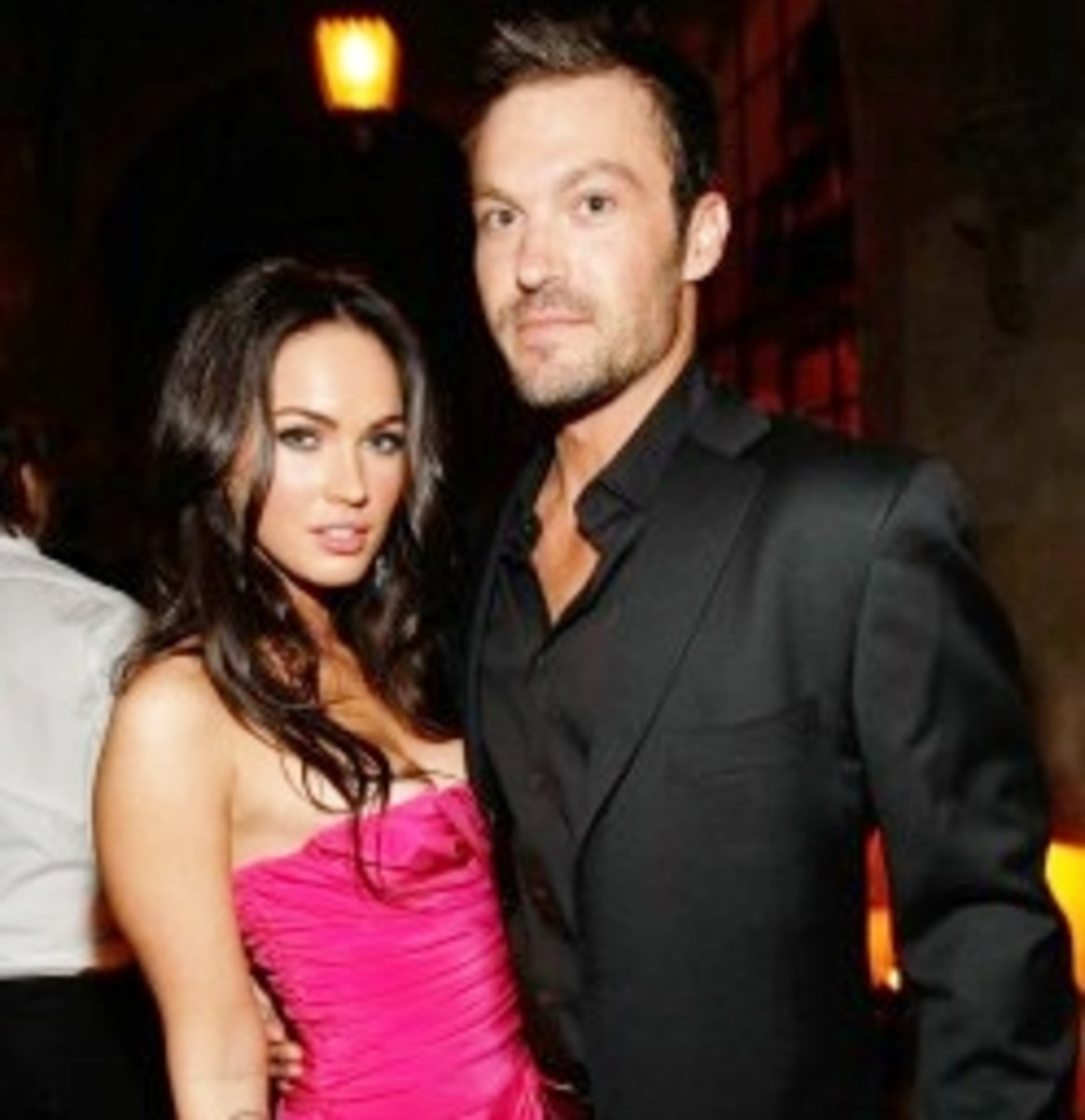Actress Megan Fox (30) and husband Brian Austin Green (43)