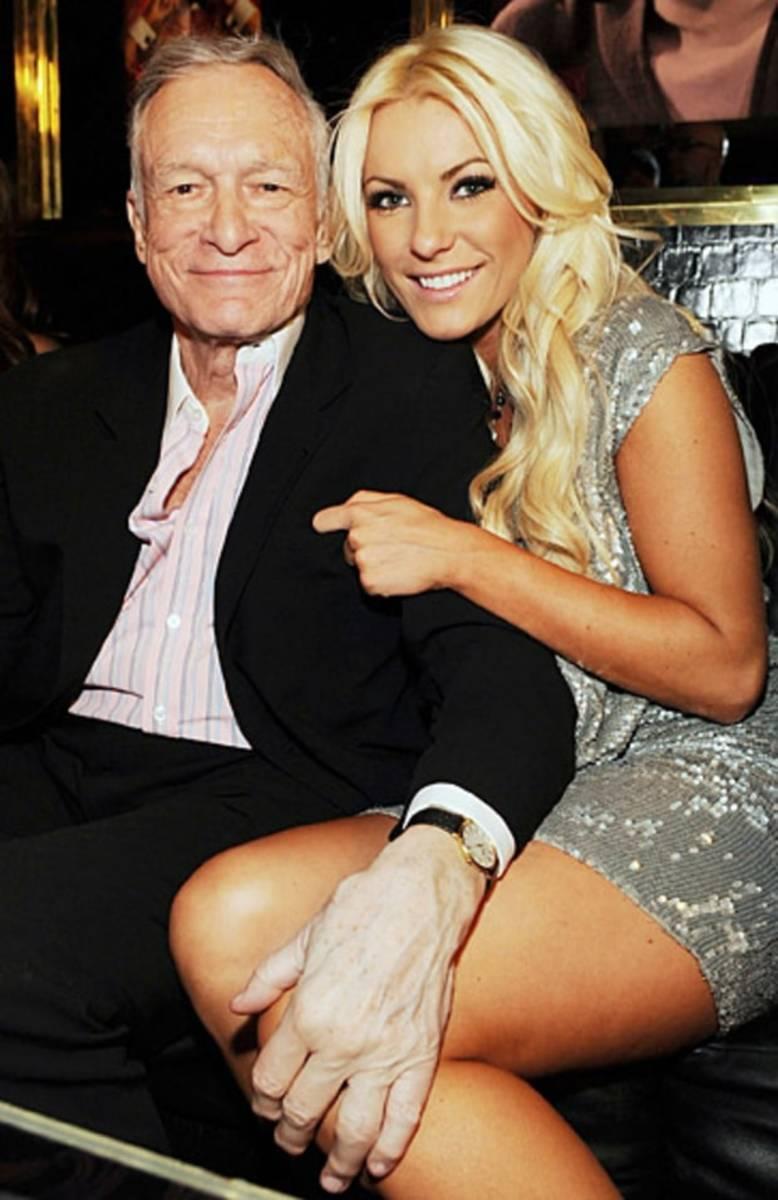 Hugh Hefner (90) and wife Crystal Harris (30)