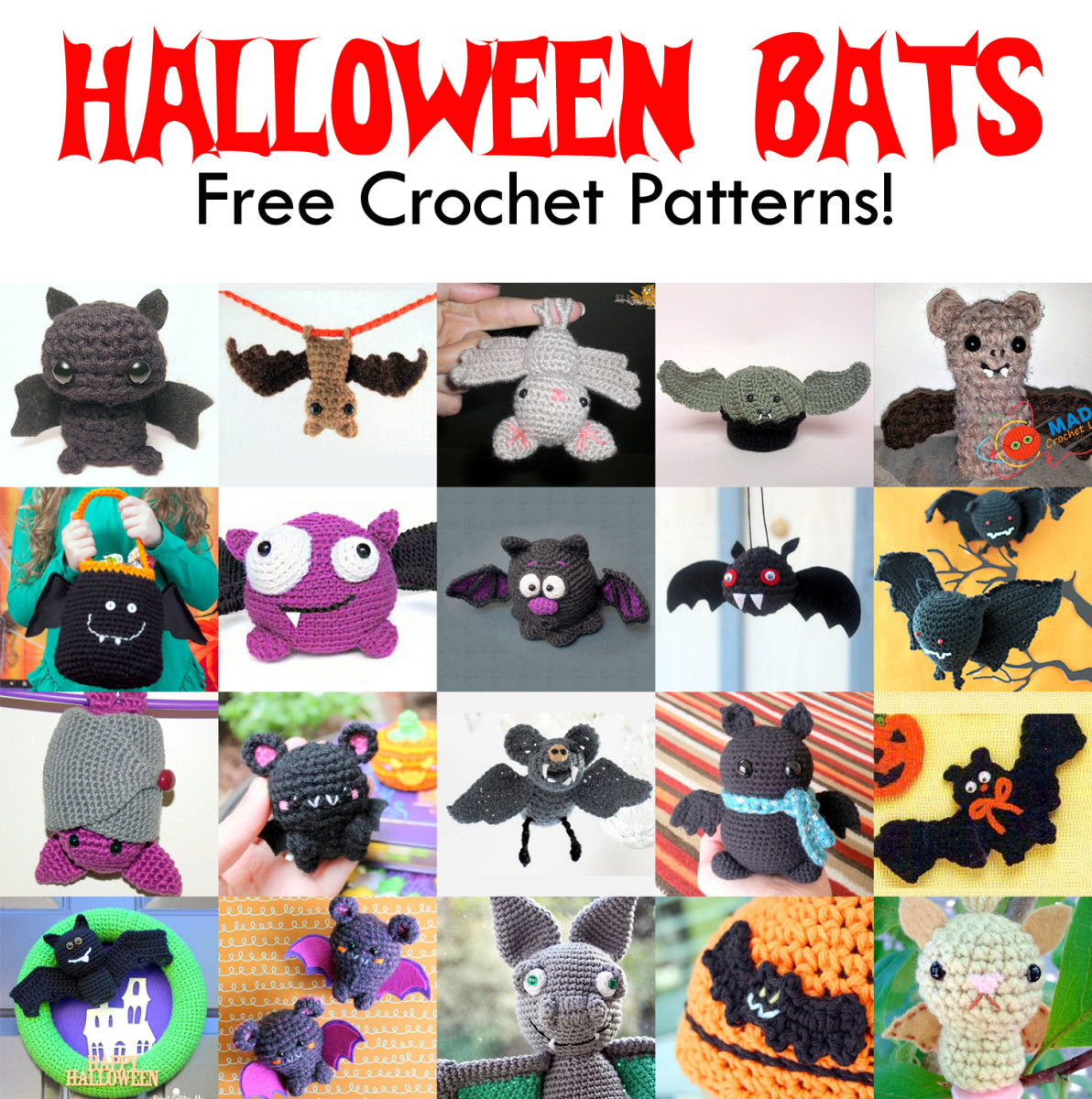 20 Free Halloween Bat Crochet Patterns