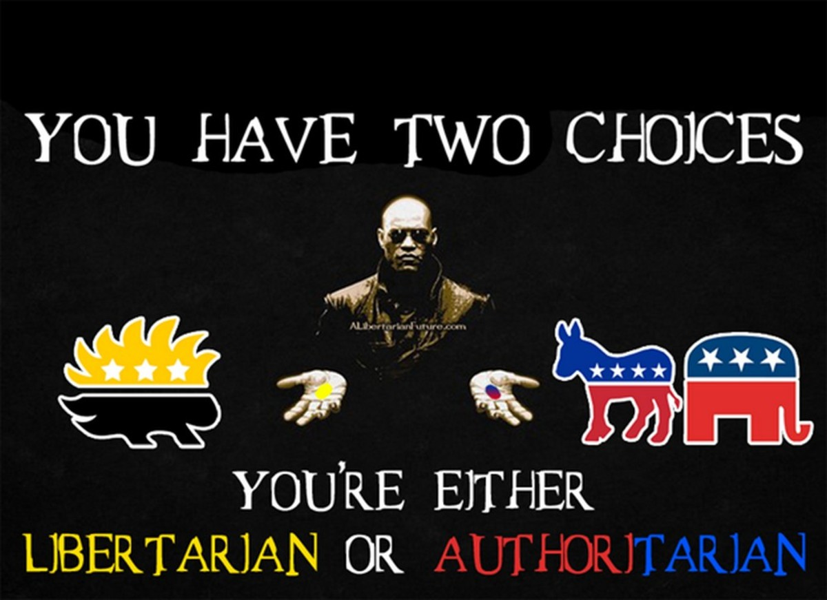 These two choices are true both politically and philosophically. Compromise always means authoritarianism wins.