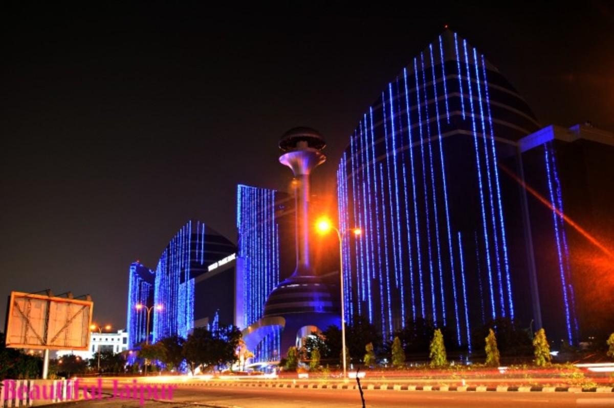 World Trade park Jaipur at Diwali