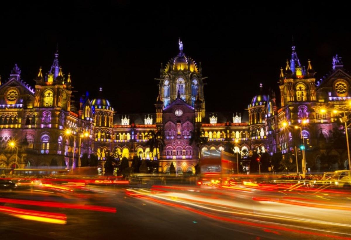 Mumbai CST at Diwali