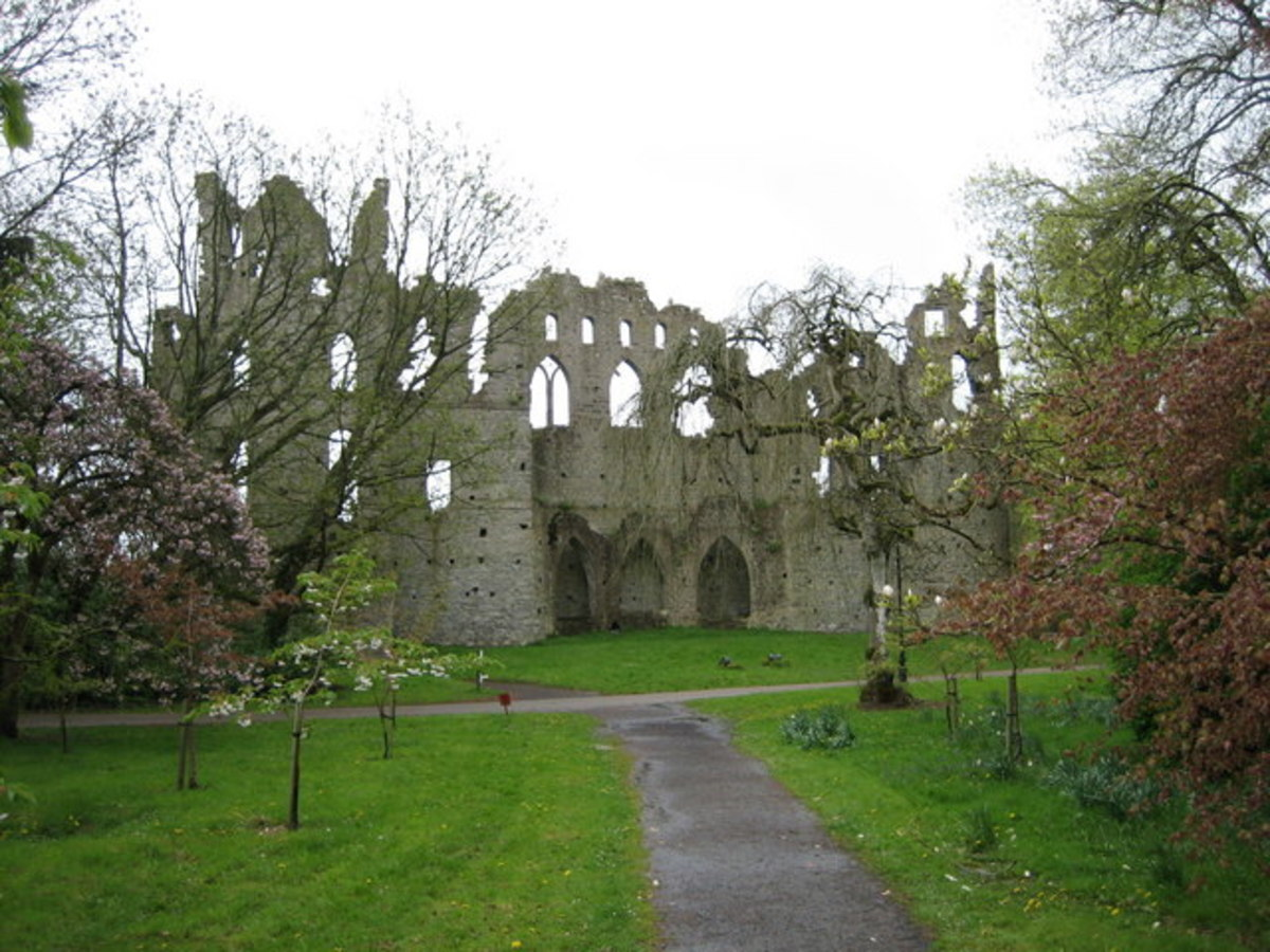the Jealous Wall was erected to block out the view of the brother's owner nearby mansion,  suspected of fancying his wife. It is one of several remarkable follies which may be seen in the parkland at Belvedere, Ireland