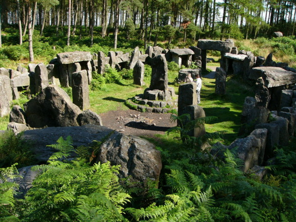 The Druids' Temple is a replica of Stonehenge built in about 1800 by William Danby in Ilton, North Yorkshire. During a time of agricultural depression and high unemployment, Danby hired local men to construct the folly, working at a full shilling a d