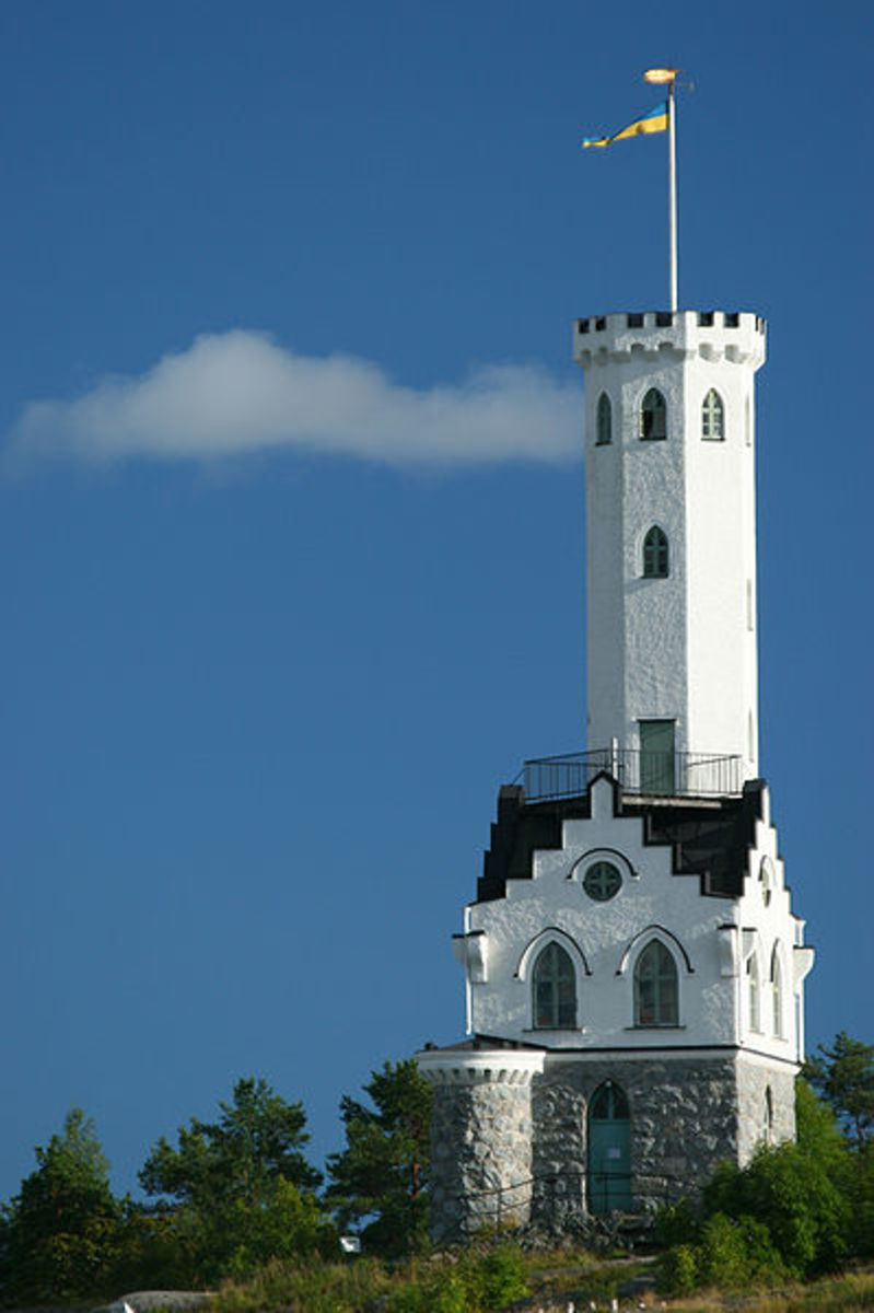 Oscar's Tower in Soderhamn, Sweeden built in 1895 as a memorial.