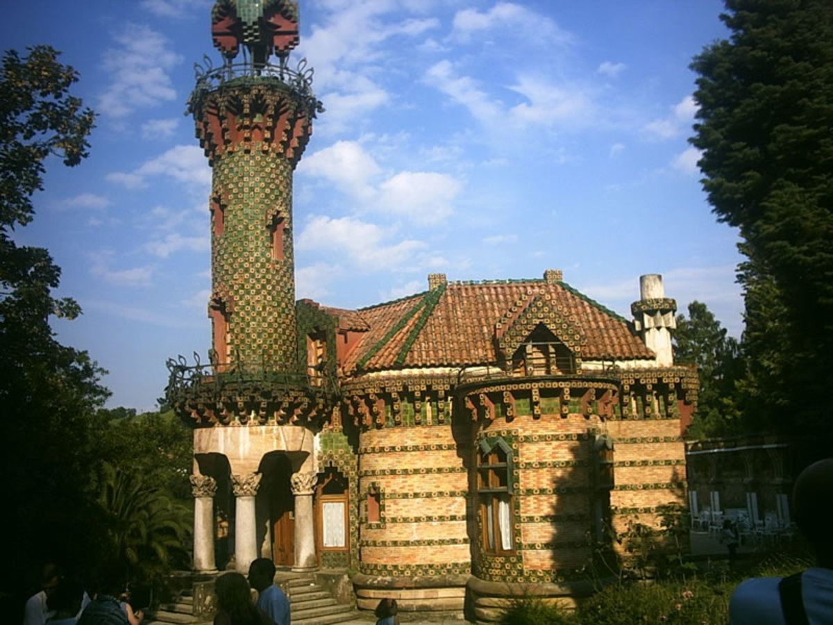 "El Capricho (""The Folly"") is a building in Comillas, Spain designed by Antoni Gaudi. It was built in 1883-1885 as a summer villa for Maximo Diaz de Quijano."