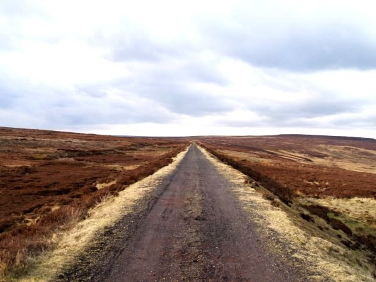 The trackbed across the high moor seen from the direction of Blakey towards Ingleby Incline