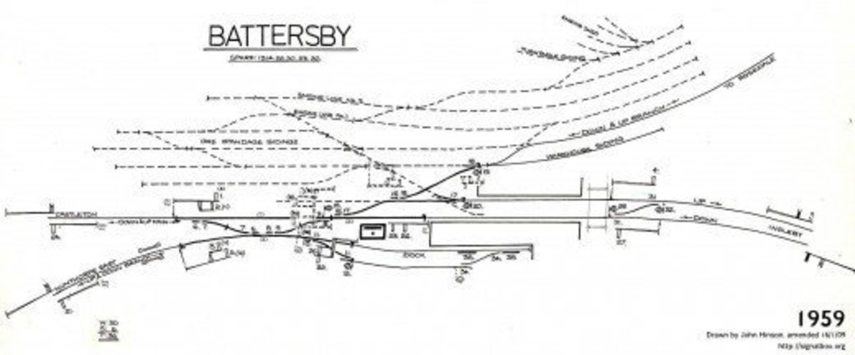 Battersby Junction in 1959 still had some of the earlier trackwork extant, although the exchange sidings were gone since the link to Rosedale became redundant in the inter-war years (last calcine dust brought down ca 1926)