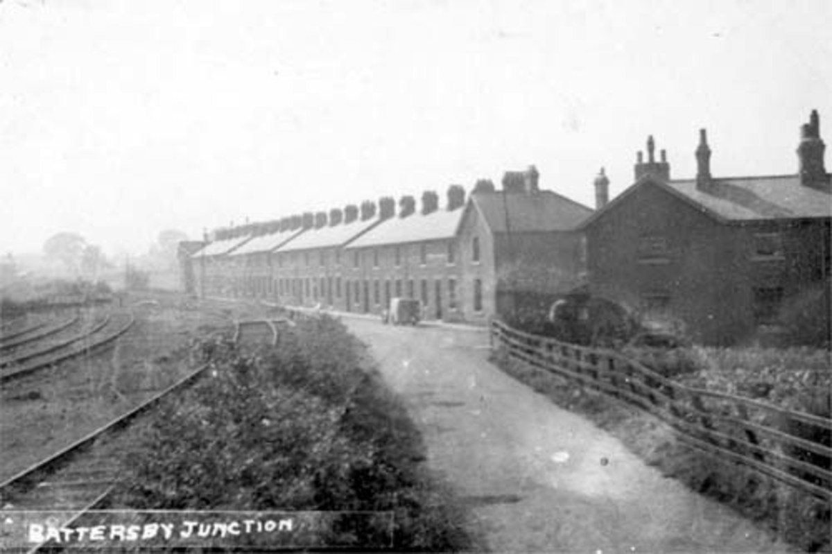 Originally built for mine, quarry and railway workers, the terraces behind Battersby Station are nowadays occupied by families not employed in any of the three