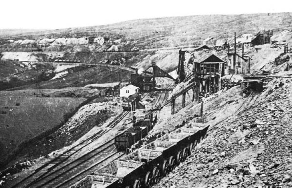 Rosedale East Mines a year before final closure in 1926, the year of the General Strike