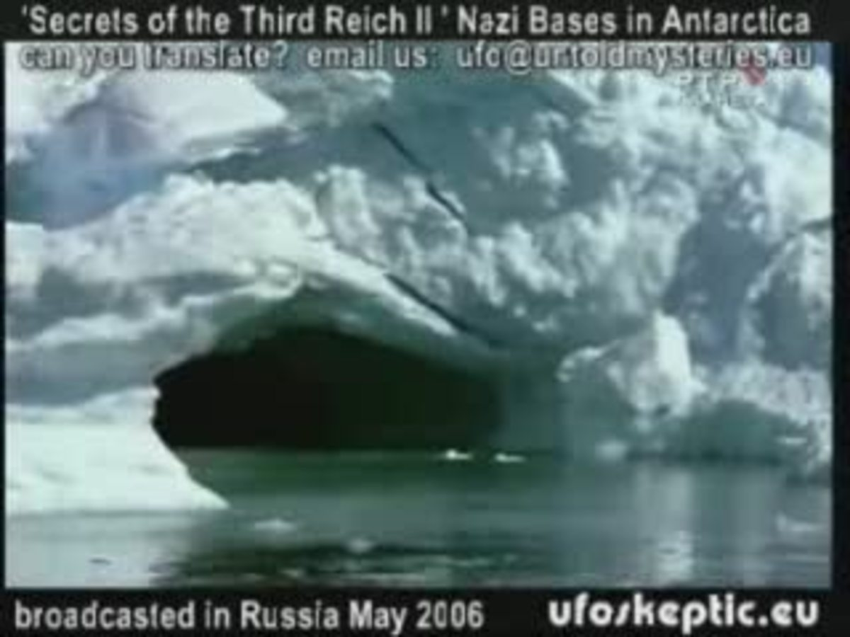Nazi submarine entrance in Antartica