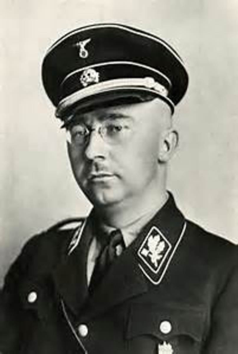 Himmler  (Reichsfuhrer of the Schutzstaffel (Protection Squadron; SS)