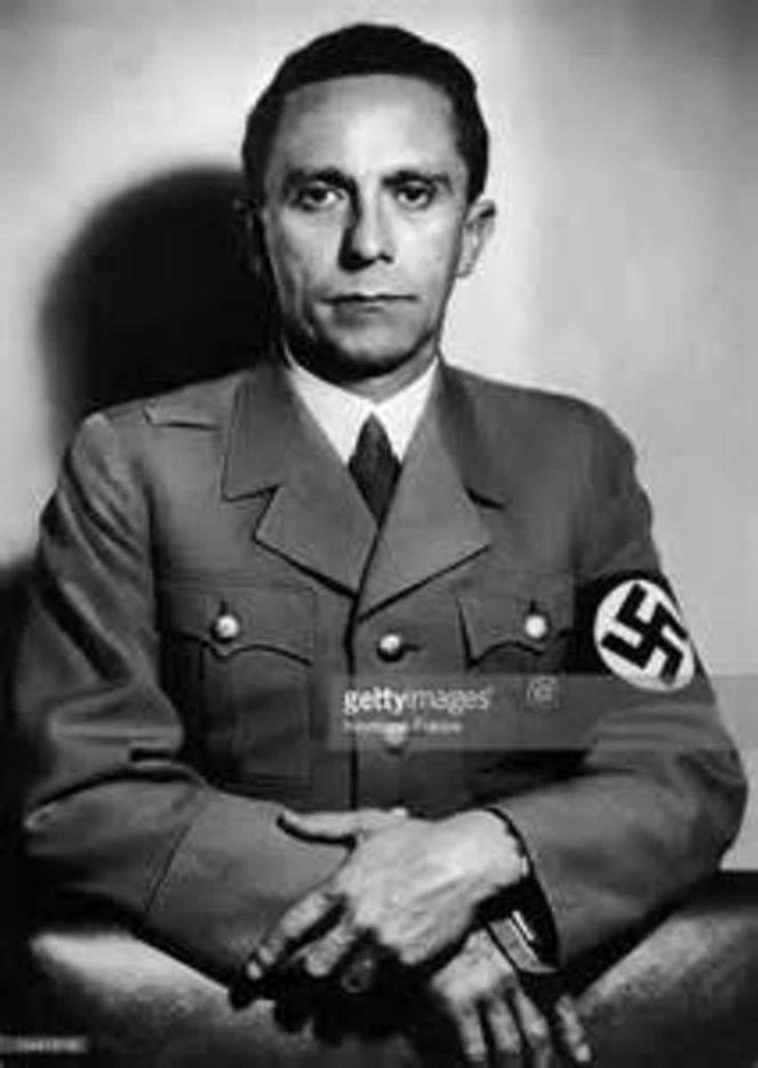 Joseph Goebbels - Propaganda minister. At the end of the war he poisoned his 6 children and he and his wife committed suicide by poison also.