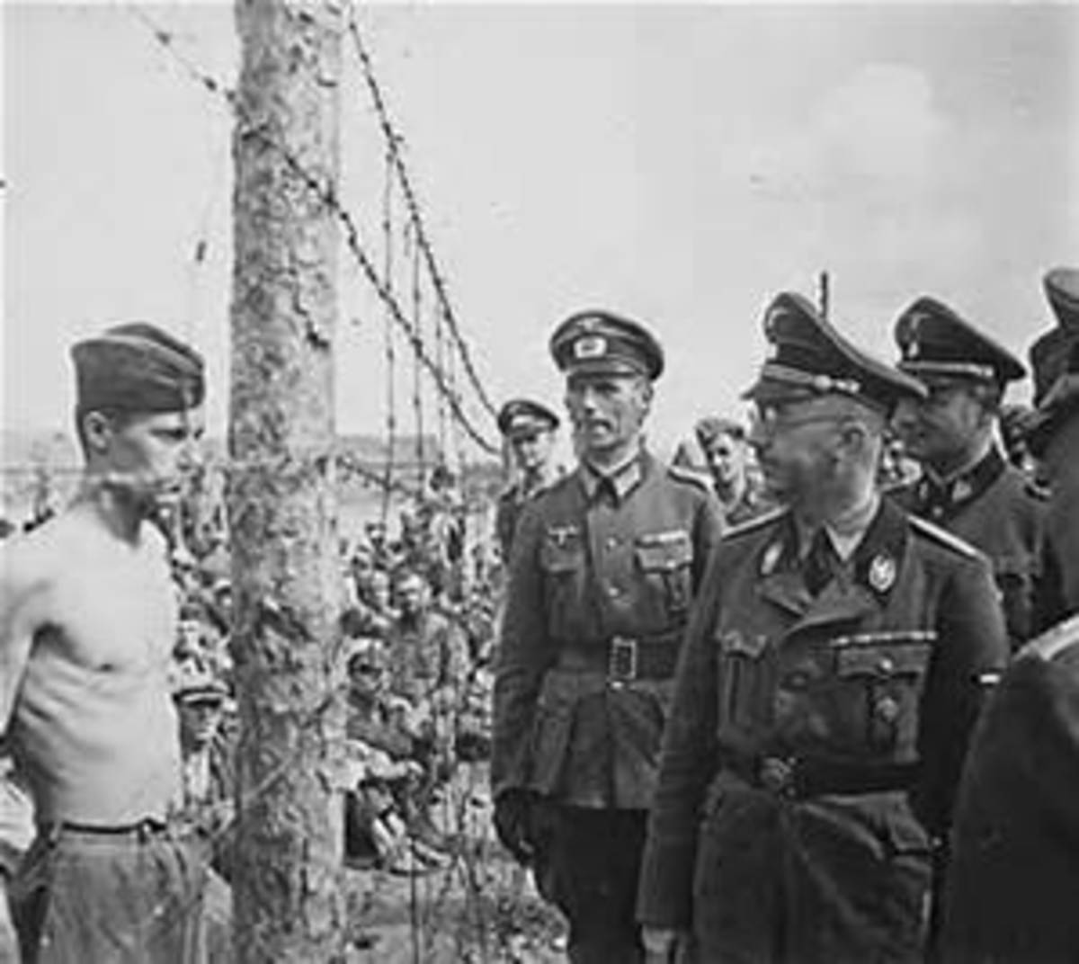 British soldier showing complete contempt for Himmler