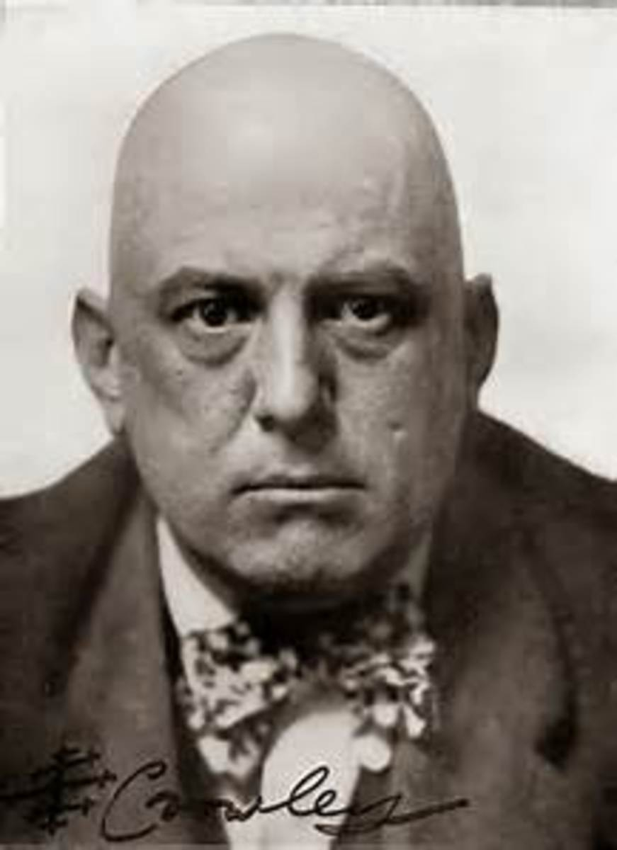 Aleister Crowley, a very sinister figure