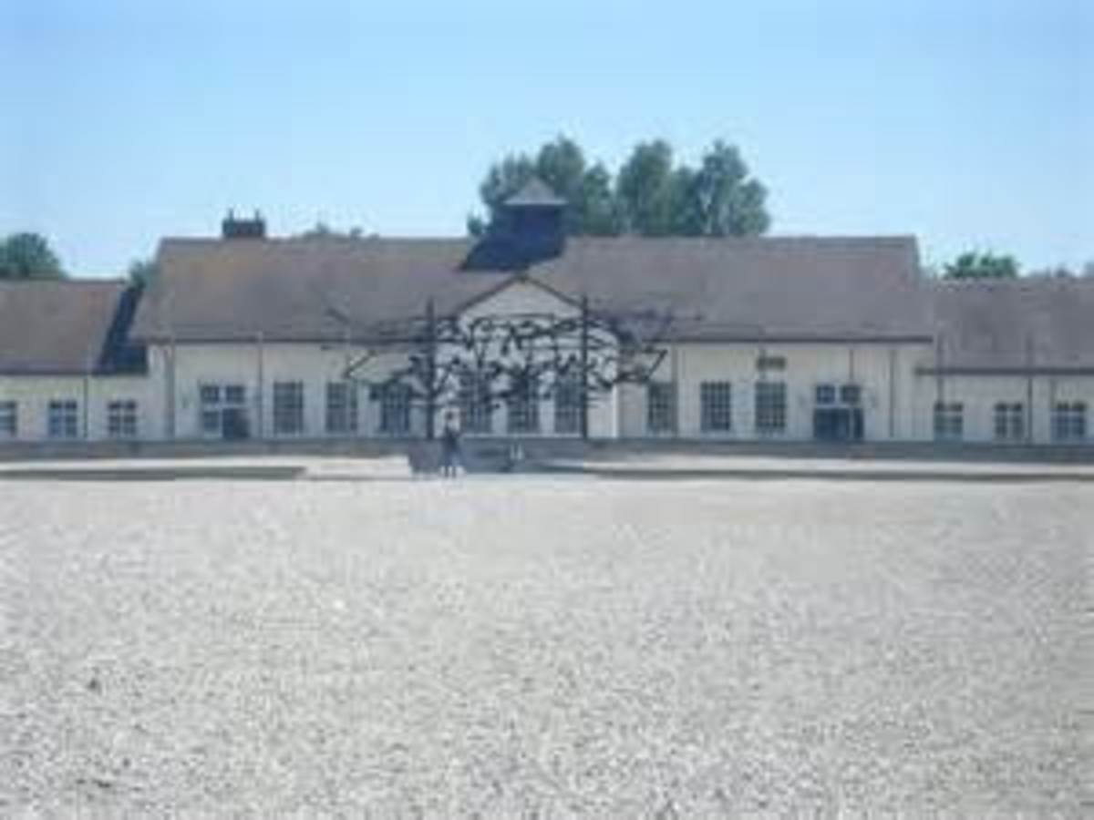 Dachau concentration camp where Masons amongst others were sent by the Nazis.