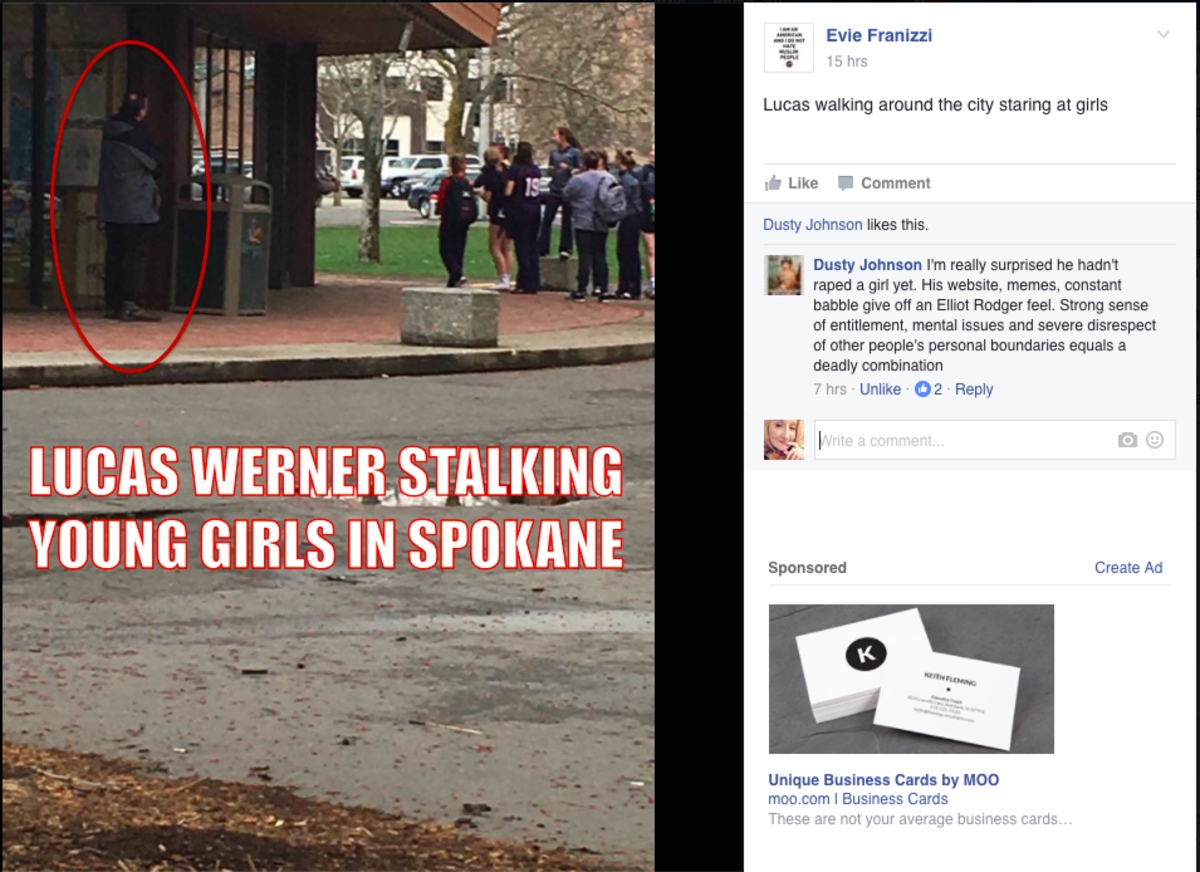 Just Lucas Werner, salivating over a group of teenage girls.