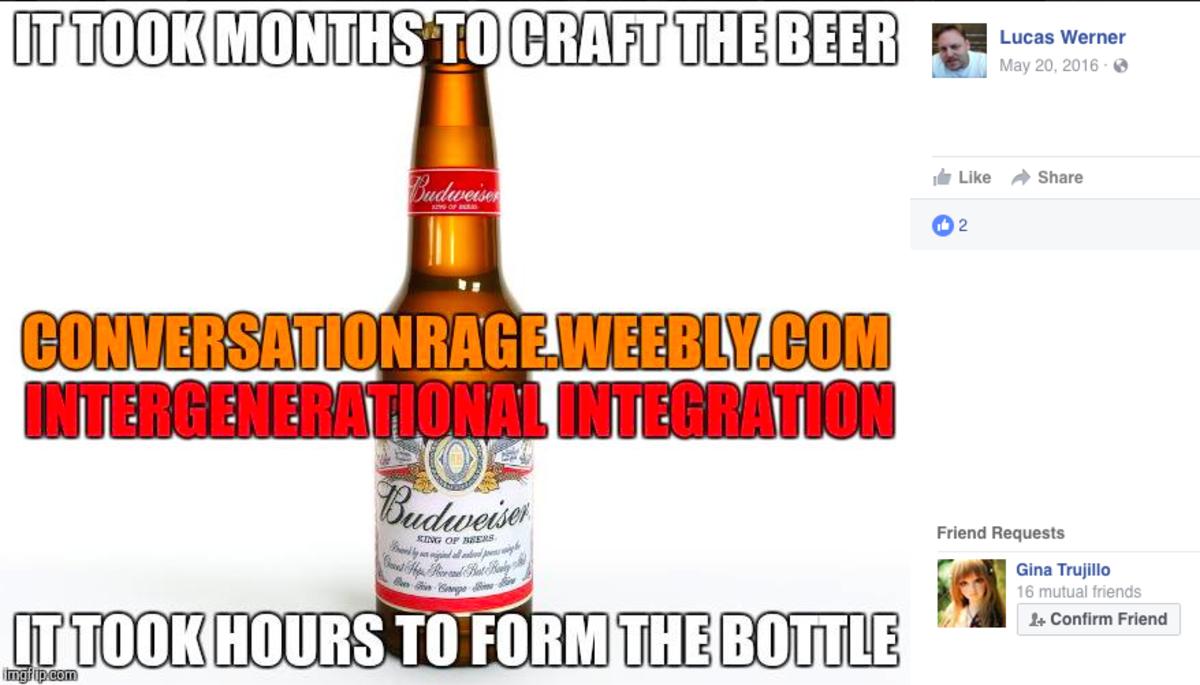 Lucas Werner: You're the bottle, I'm the beer, put me inside you.