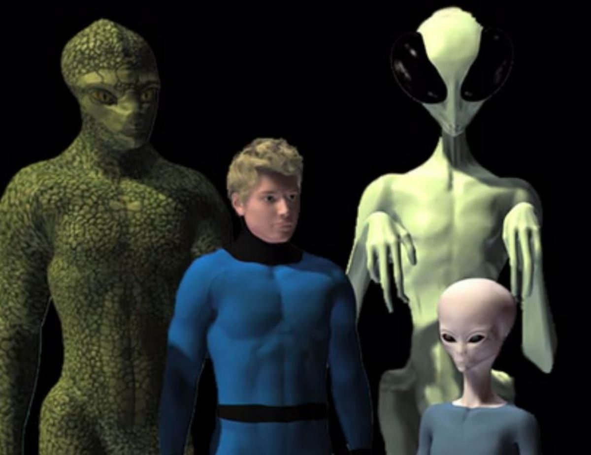 The four groups of Aliens on Mars that are fighting together to repel a Draco/Reptilian invasion force.