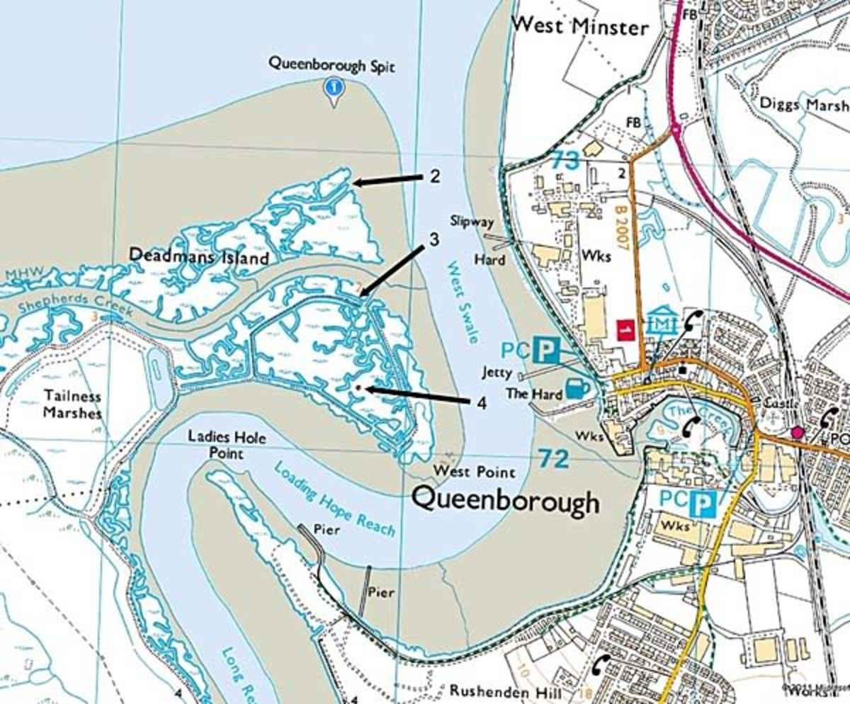 Map of Deadman's Island Kent