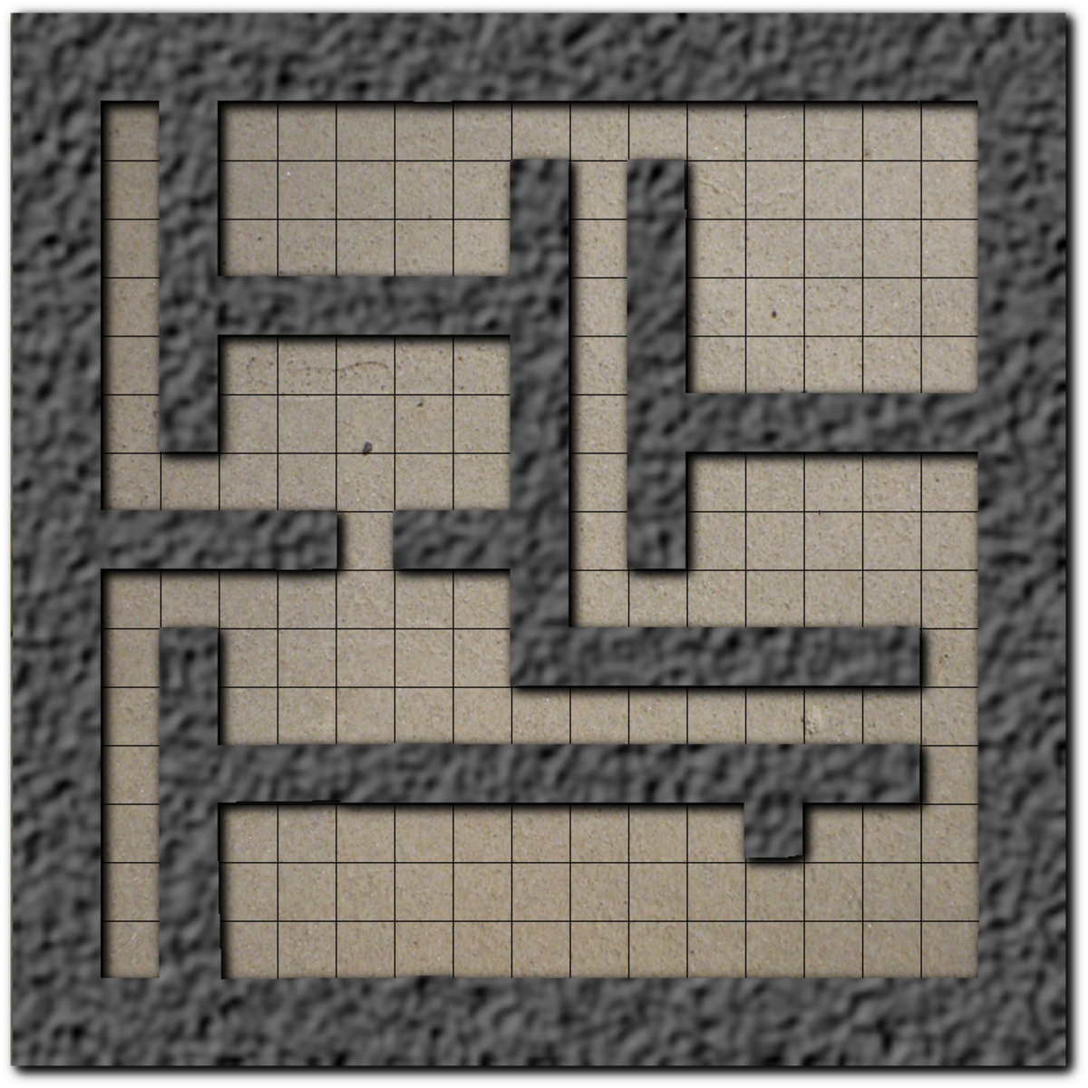 Wall layer  with drop shadow to make 3D.