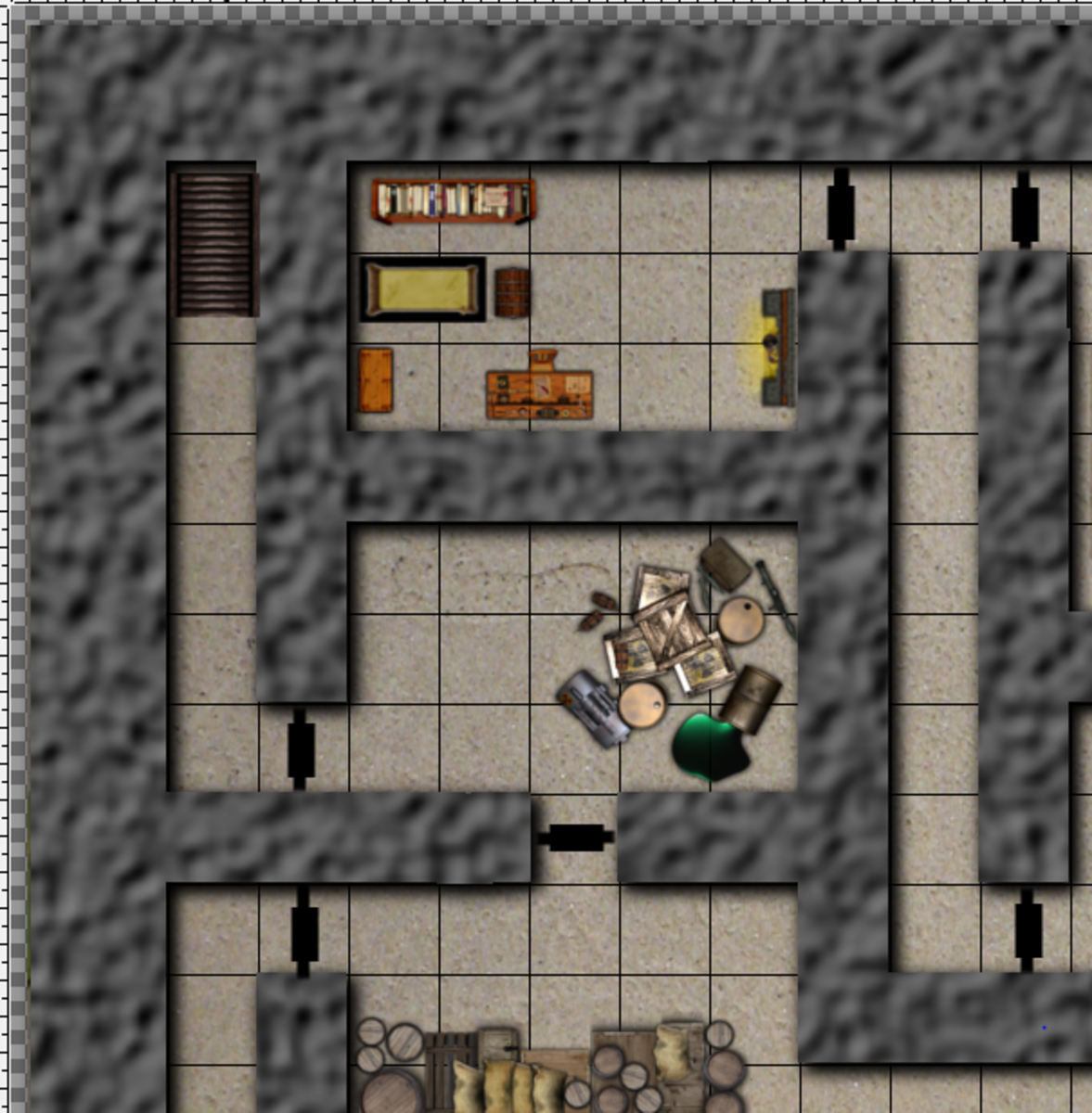 Creating a Fantasy Dungeon Map with GIMP 2.8 (2.10.12)