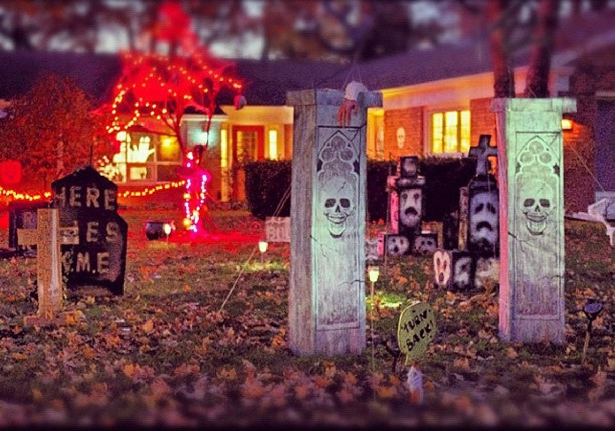 Festive and spooky Halloween Display
