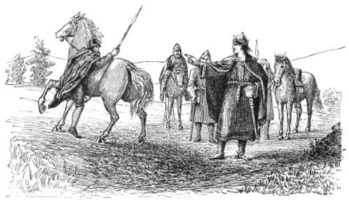 Magnus directs his men on the field of battle