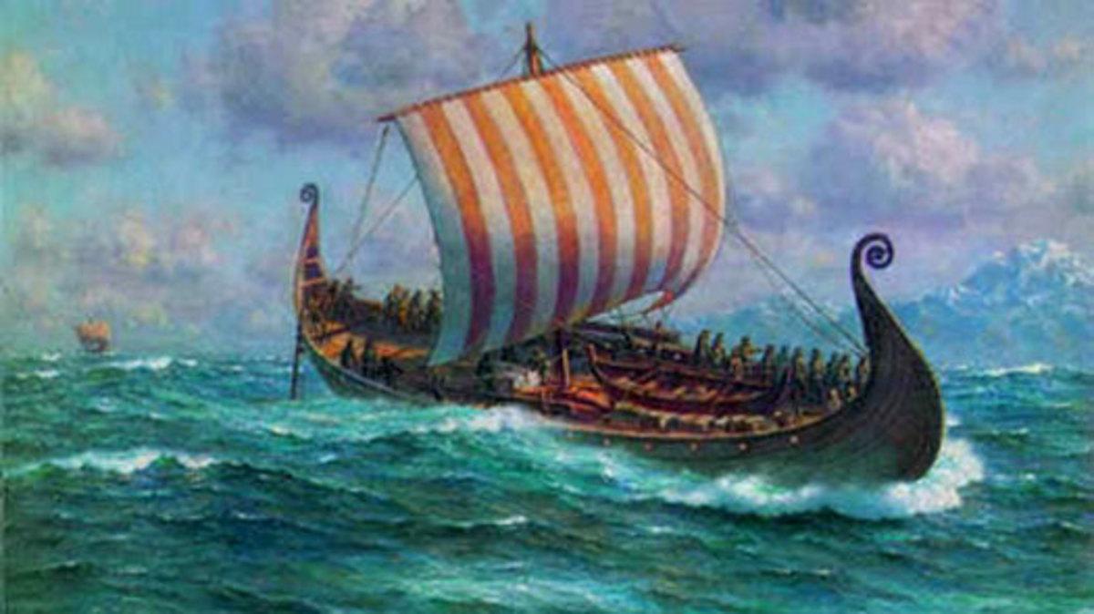 Viking Longship at large! Magnus 'Barelegs' took his fleet around the Northern Isles and through the Irish Sea