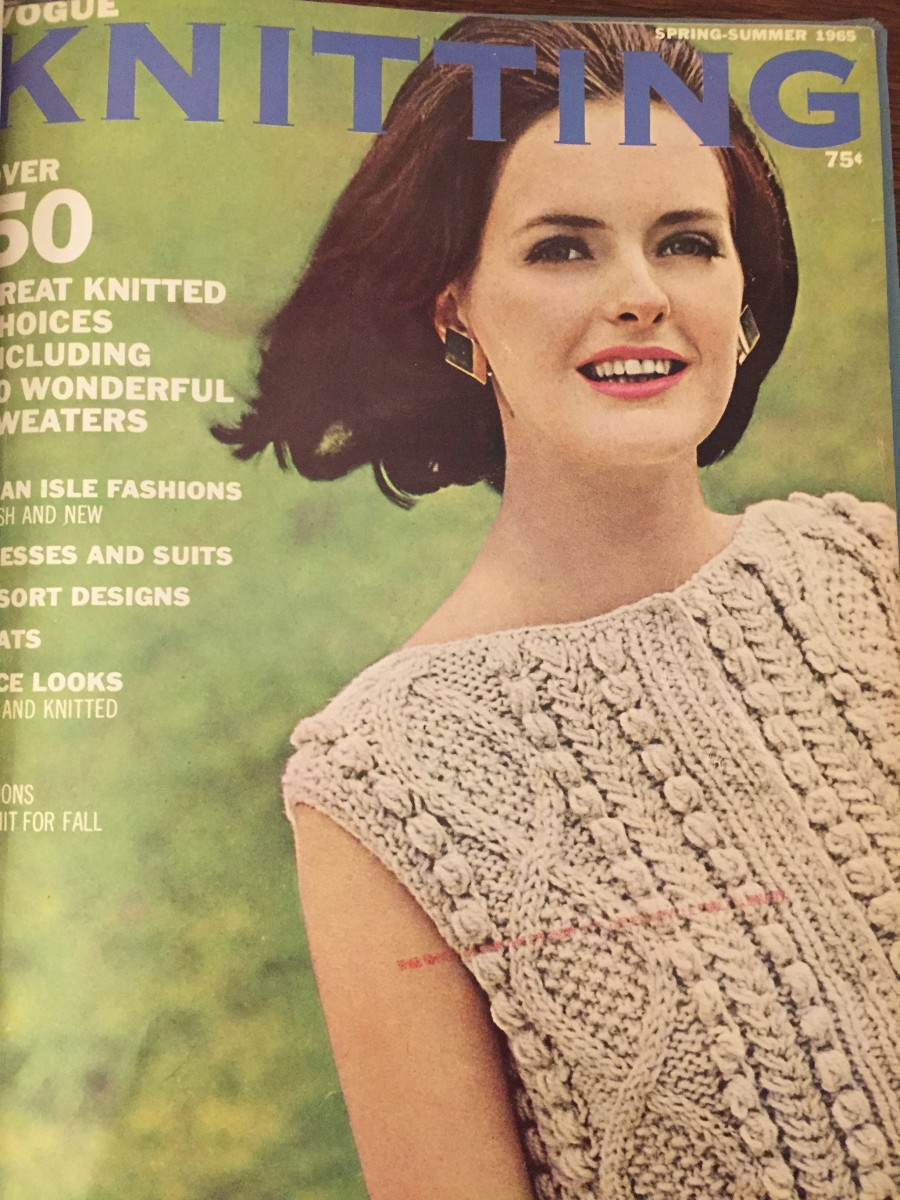 Cover of Vogue Knitting Magazine,  Spring-Summer 1965