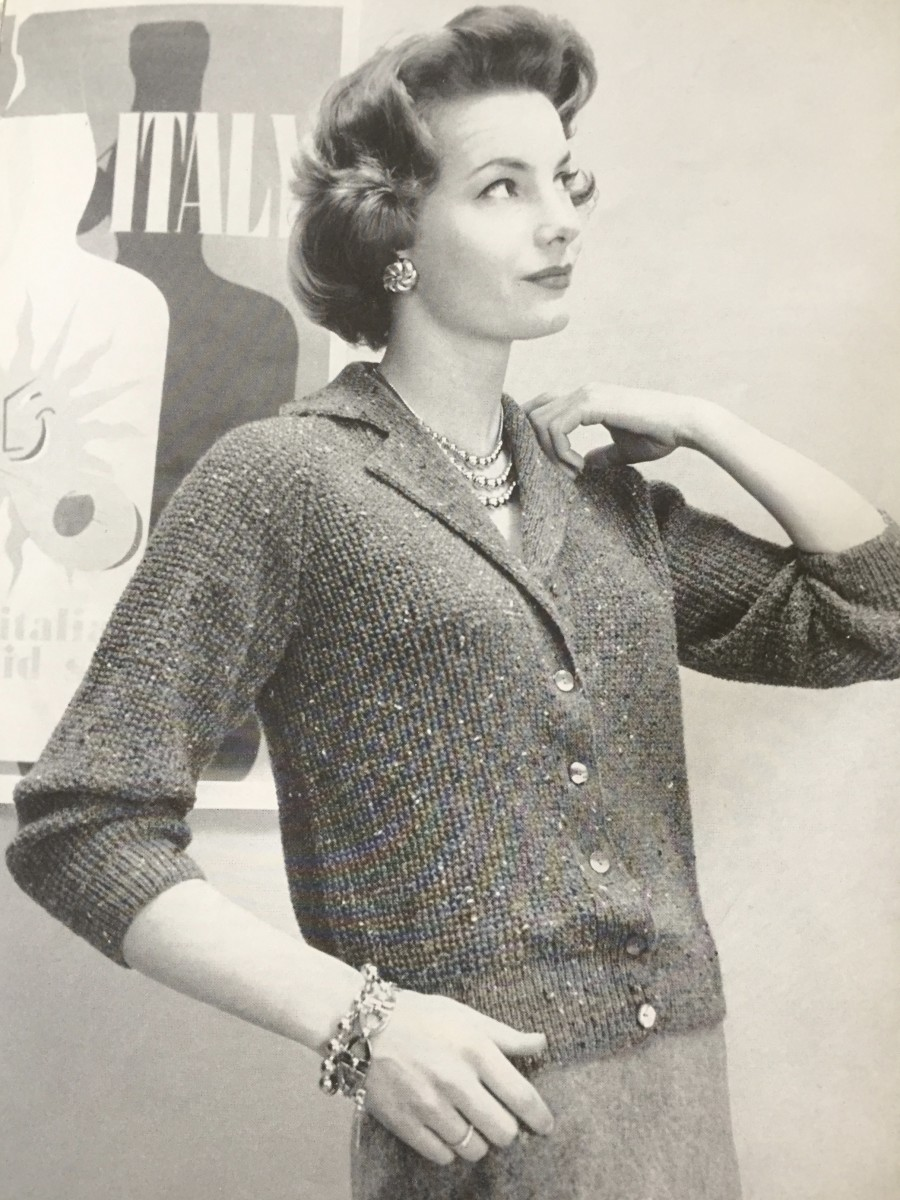 From Bernat Book No. 65, Bulky Knits Designed by Mirsa of Italy for Women and Men, 1958