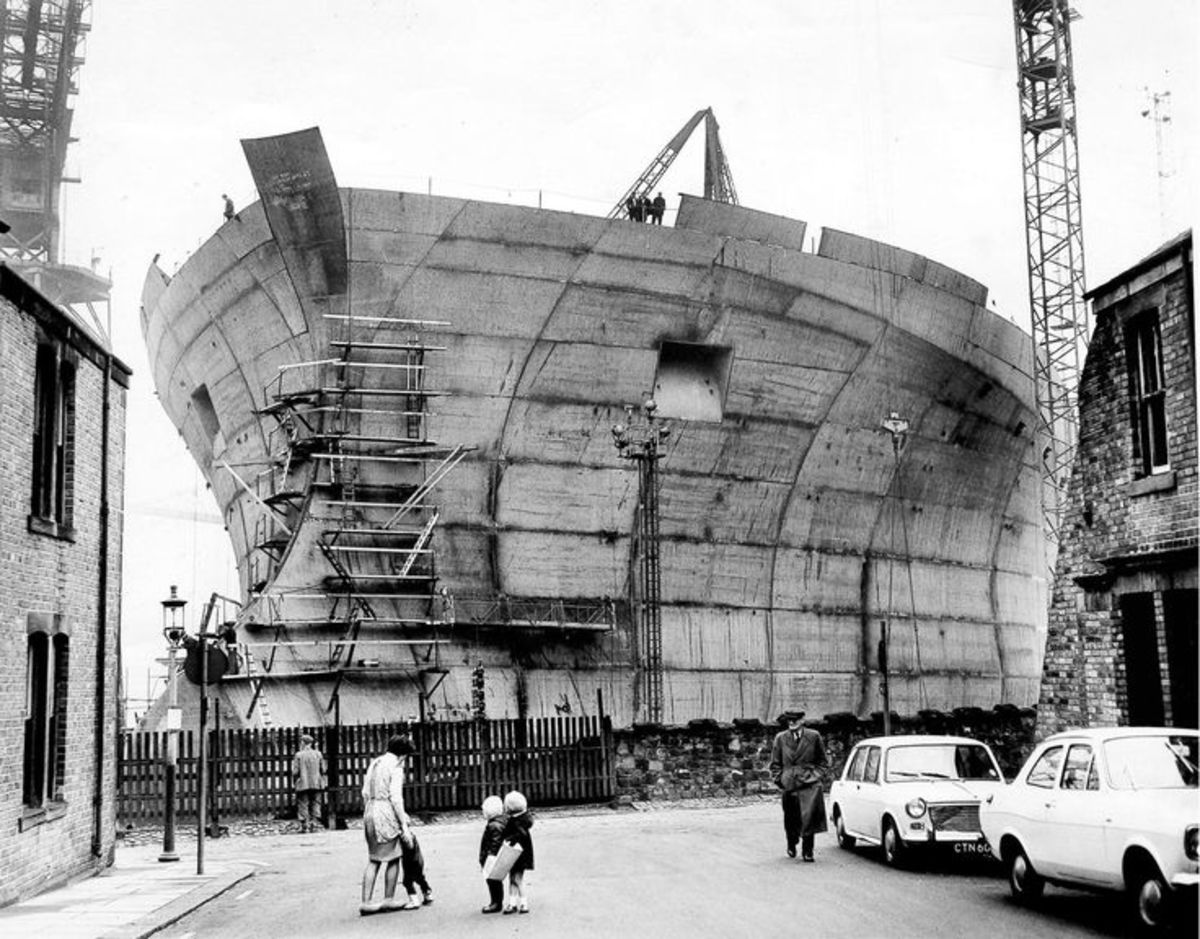 Shipbuilding, another Tyneside venture, where several yards near the river mouth launched vessels. Down the road was Sunderland, larger shipbuilding facilities took up much of the River Wear shores. Both used steel that came from Consett and Teesside