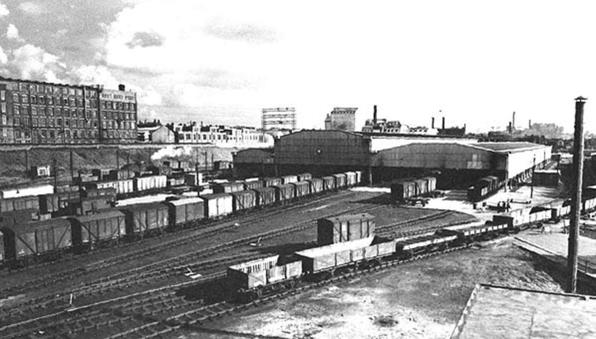 Huskisson Goods Station, Hull in the 1960s, still well occupied but looking at closure in the near future.