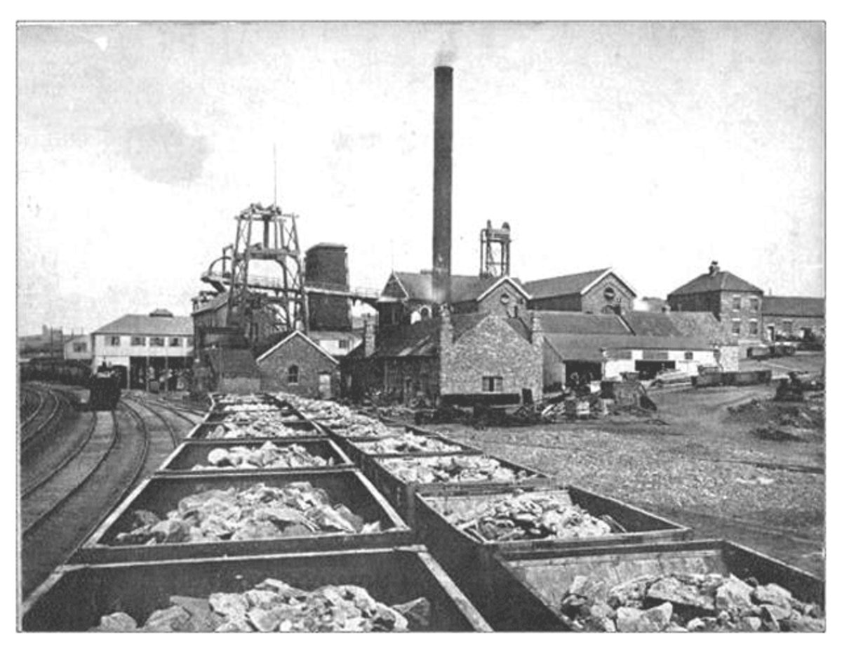 Rows of ore-laden wagons await removal to works on Teesside from Lumpsey Mine near Kilton Junction. Something like 65% of North Yorkshire & Cleveland iron ore output was mined between Swainby near Stokesley in the west, and Skinningrove in the east