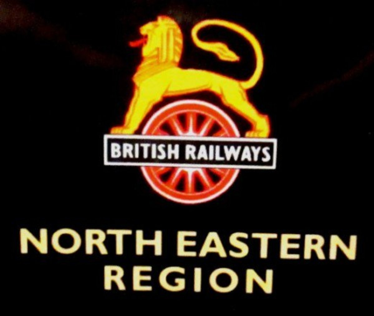 Wheels of Industry and commerce, the 'cycling lion' emblem adopted by British Railways in its early years
