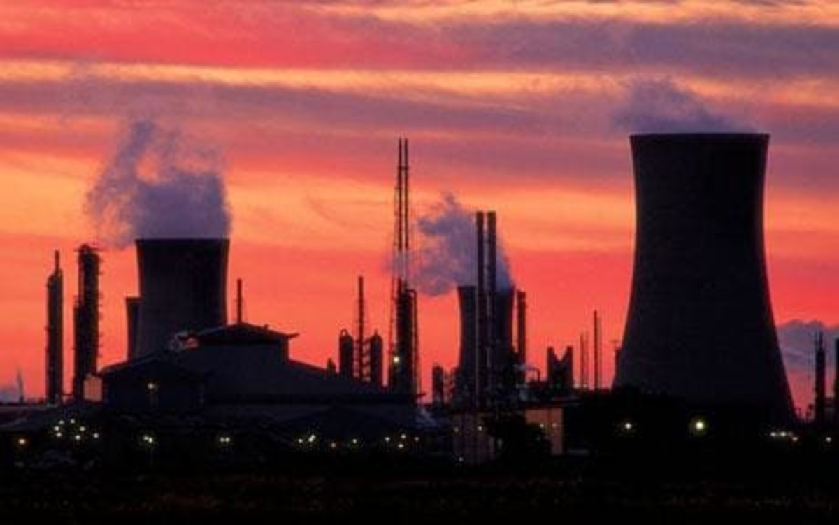 Middlesbrough's works skyline at dusk. Through slump and surge, Teesside has seen its fair share since iron works were first opened by Henry Bolckow and John Vaughan on the south bank of the Tees in mid-19th Century, fuelled by local ironstone